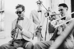 Baby Soda hot new orleans prohibition era Jazz Band New York NYC Wedding jazz band with clarinet banjo trumpet