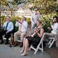 Baby Soda Jazz Band playing an outdoor wedding in NYC Manhattan Brooklyn